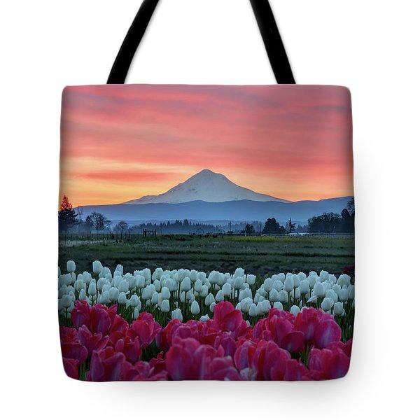 Mount Hood Sunrise Tote Bag