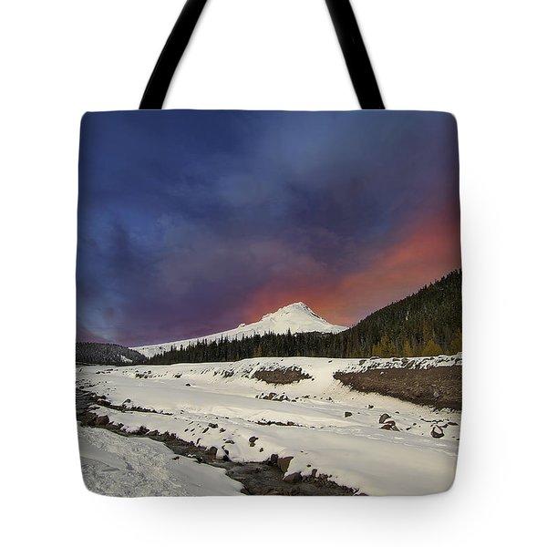 Mount Hood Winter Wonderland Tote Bag