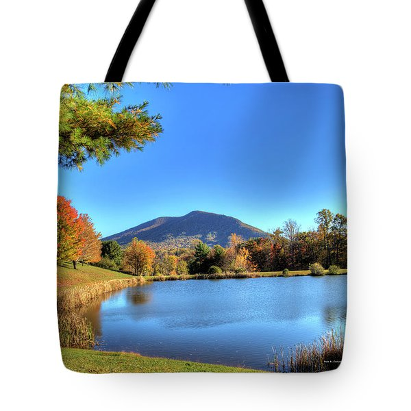 Mount Jefferson Reflection Tote Bag by Dale R Carlson