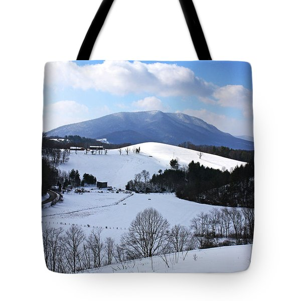 Mount Jefferson Winter Tote Bag by Dale R Carlson