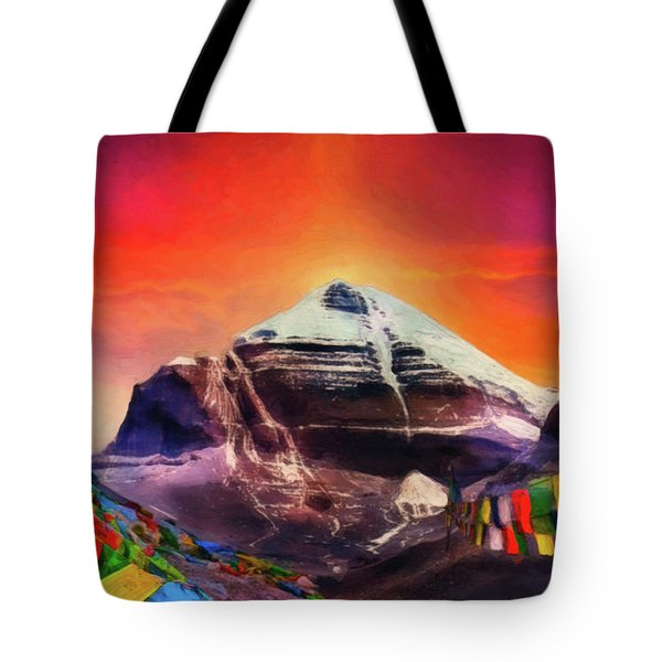 Mount Kailash - The Pillar Of The World Tote Bag