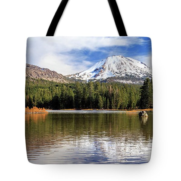 Tote Bag featuring the photograph Mount Lassen Autumn Panorama by James Eddy
