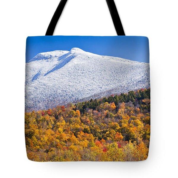 Mount Mansfield Seasonal Transition Tote Bag