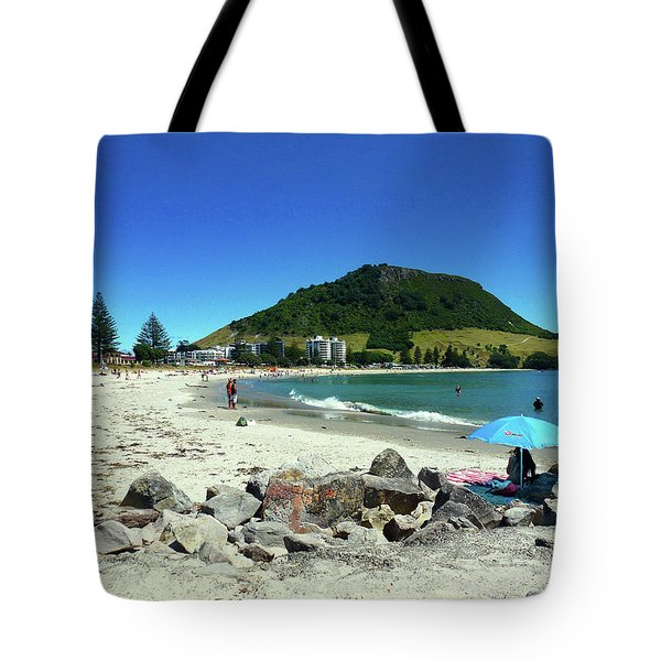 Mount Maunganui Beach 1 - Tauranga New Zealand Tote Bag by Selena Boron