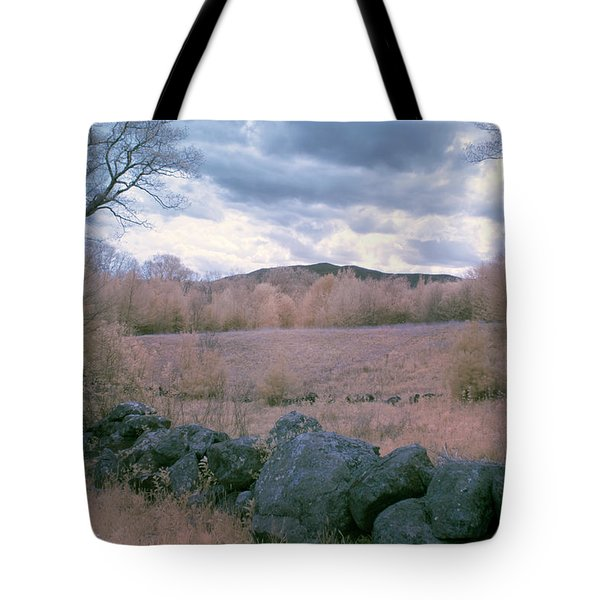 Mount Monadnock In Infrared Tote Bag