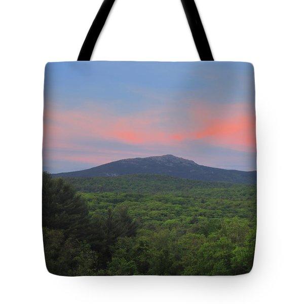 Mount Monadnock Spring Sunset Tote Bag
