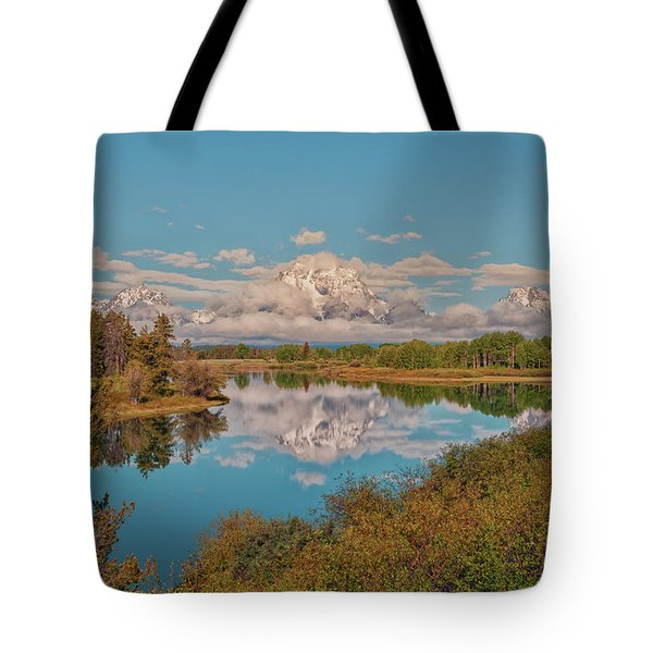 Mount Moran On Oxbow Bend Tote Bag by Brian Harig