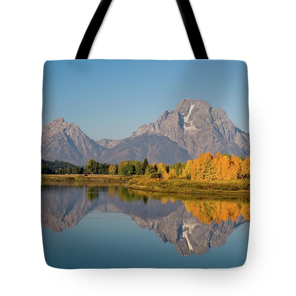 Tote Bag featuring the photograph Mount Moran by Steve Stuller