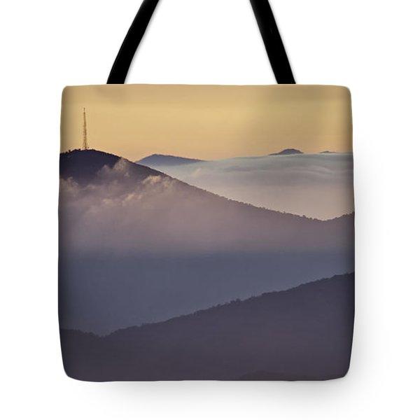 Mount Pisgah In Morning Light - Blue Ridge Mountains Tote Bag by Rob Travis