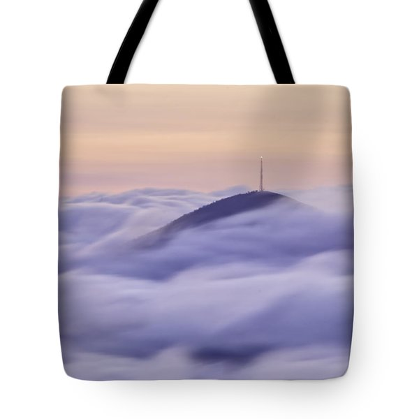 Mount Pisgah In The Clouds Tote Bag by Rob Travis
