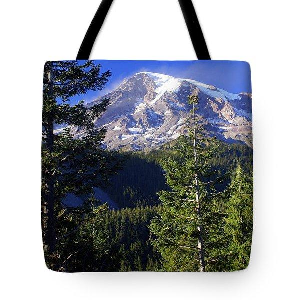 Mount Raineer 1 Tote Bag by Marty Koch
