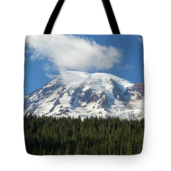 Mount Rainier Closeup Tote Bag