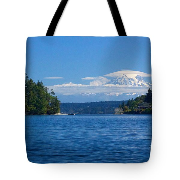 Mount Rainier Lenticular Tote Bag