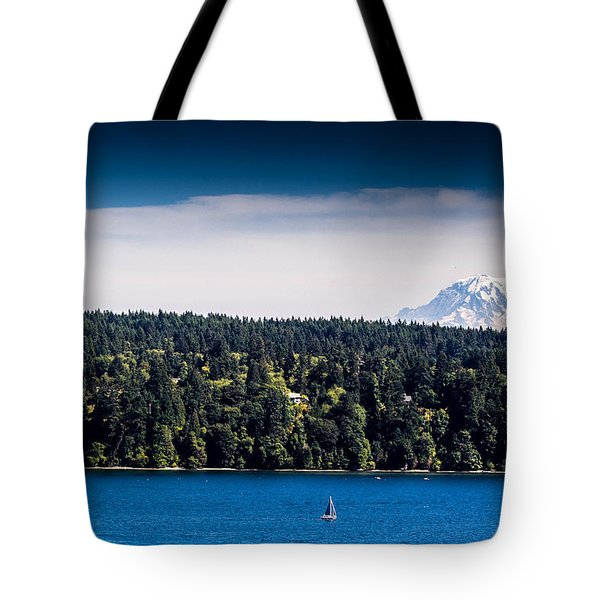 Tote Bag featuring the photograph Mount Rainier by Randy Bayne