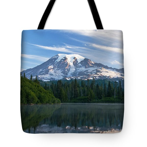 Mount Rainier Reflections Tote Bag