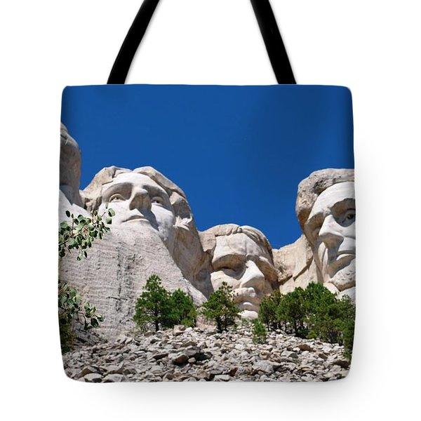 Mount Rushmore Close Up View Tote Bag