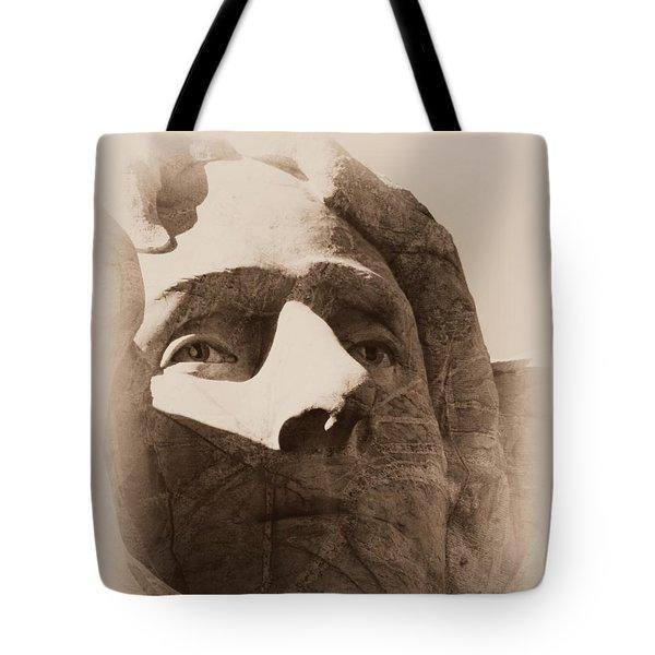 Mount Rushmore Faces Jefferson Tote Bag