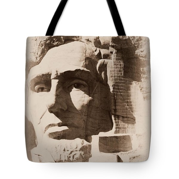 Mount Rushmore Faces Lincoln Tote Bag