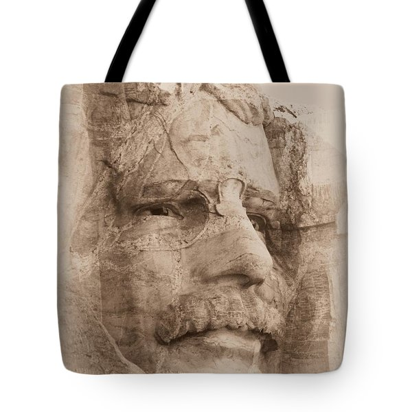 Mount Rushmore Faces Roosevelt Tote Bag