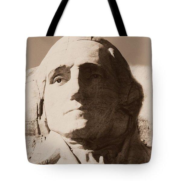 Mount Rushmore Faces Washington Tote Bag