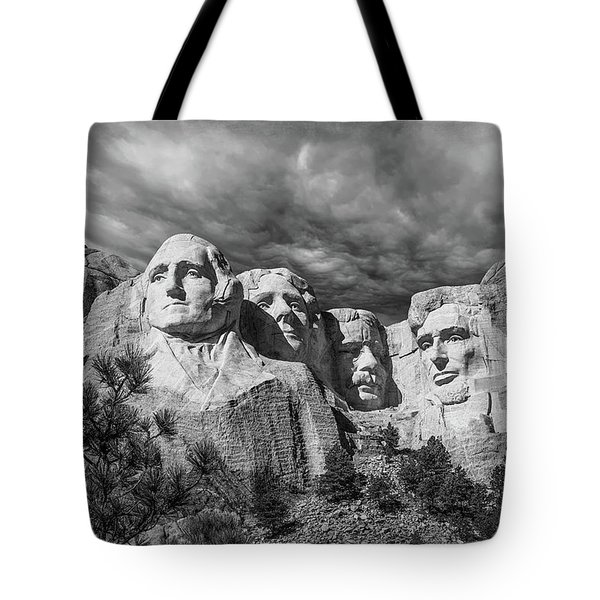Mount Rushmore II Tote Bag by Tom Mc Nemar