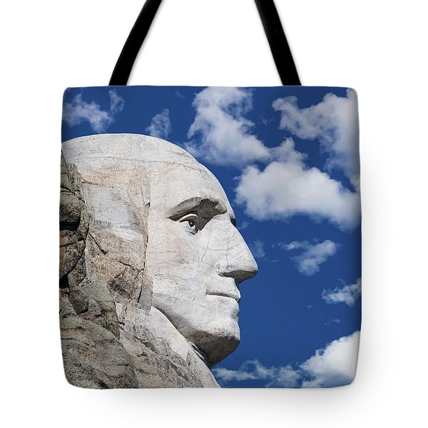 Mount Rushmore Profile Of George Washington Tote Bag