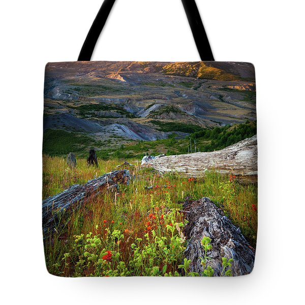 Mount Saint Helens Tote Bag by Inge Johnsson