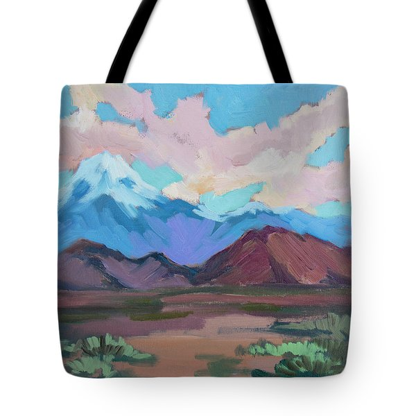 Tote Bag featuring the painting Mount San Gorgonio by Diane McClary