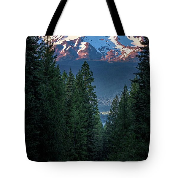 Mount Shasta - A Roadside View Tote Bag