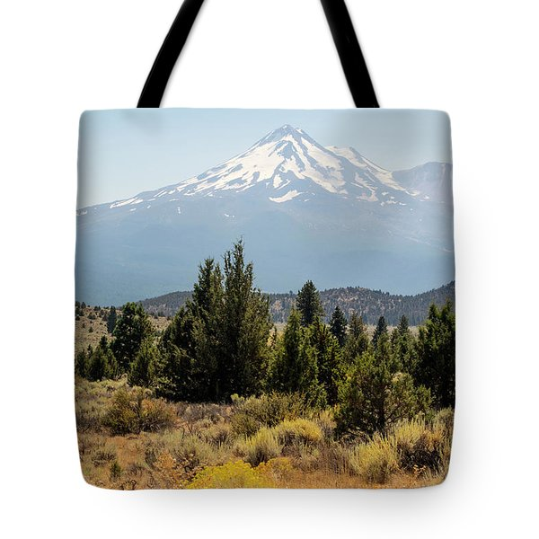 Tote Bag featuring the photograph Mount Shasta And Shastina by Frank Wilson
