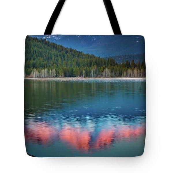 Mount Shasta Sunset Tote Bag