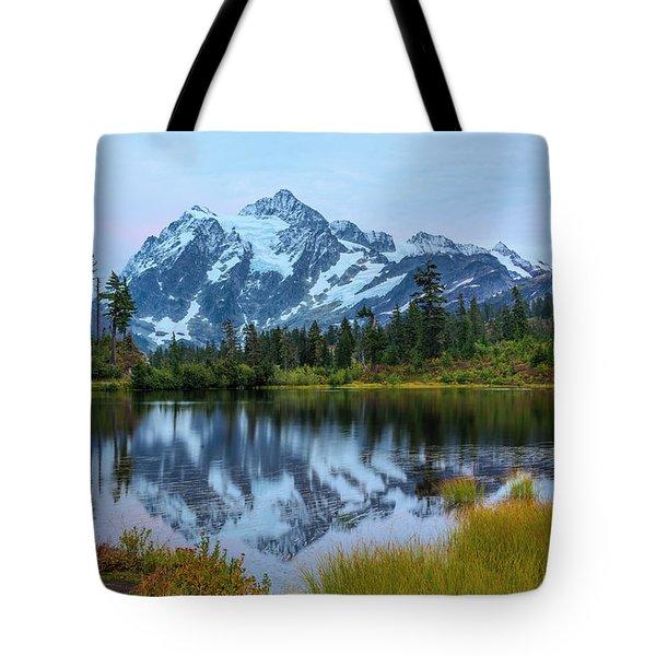 Mount Shuksan And Picture Lake Tote Bag