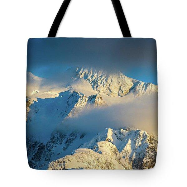 Mount Shuksan Dusk Details Tote Bag