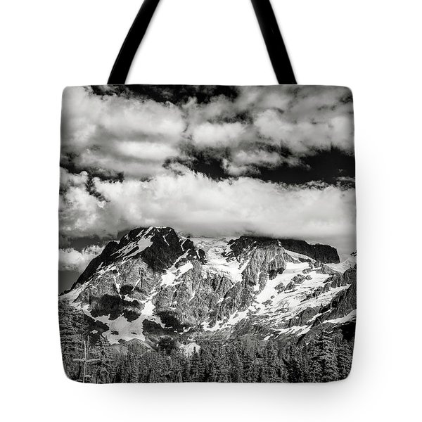 Tote Bag featuring the photograph Mount Shuksan Under Clouds by Jon Glaser