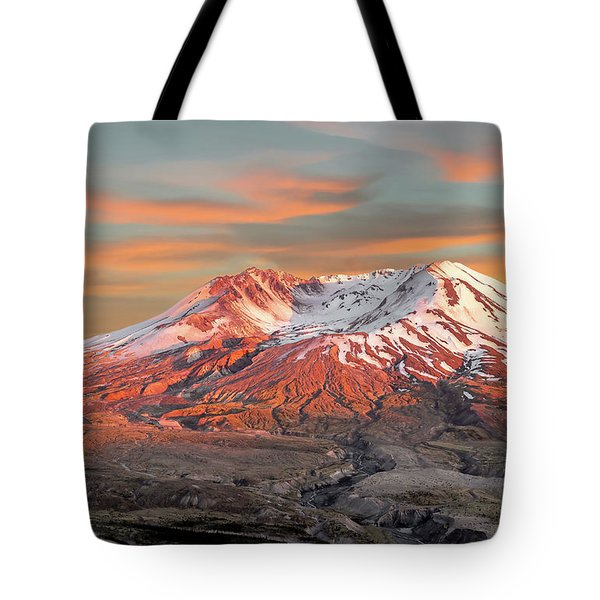 Mount St Helens Sunset Washington State Tote Bag