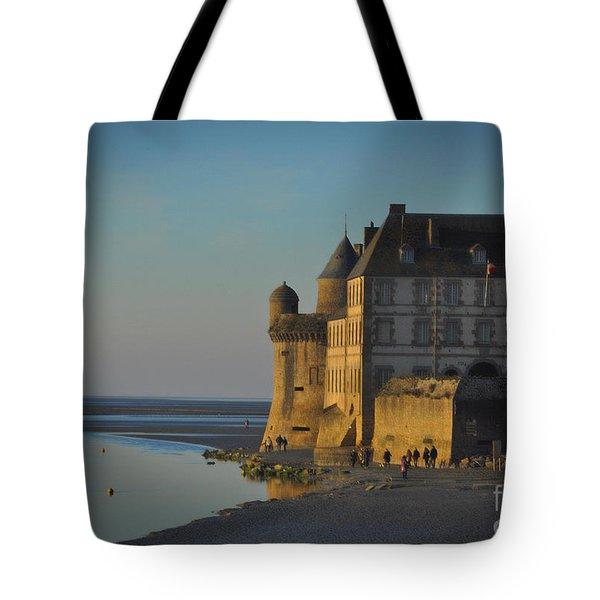 Mount St Michael Aisle Tote Bag by Karo Evans
