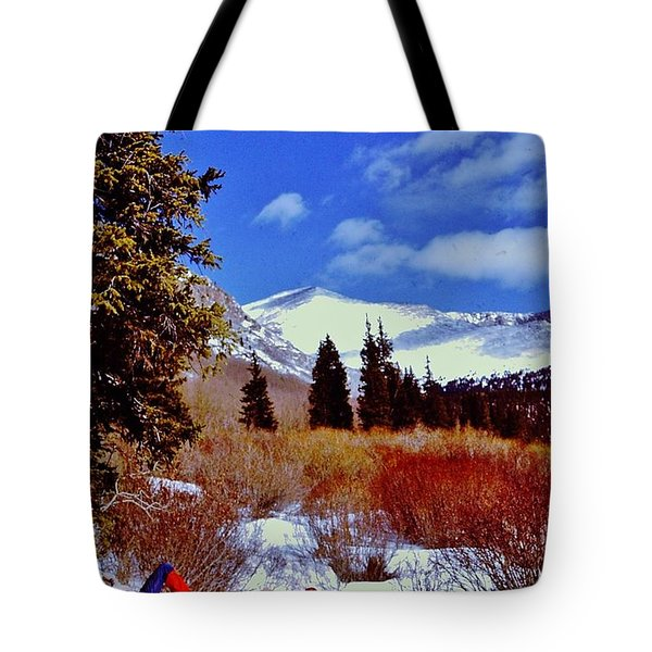 Mount St Vrain  Tote Bag