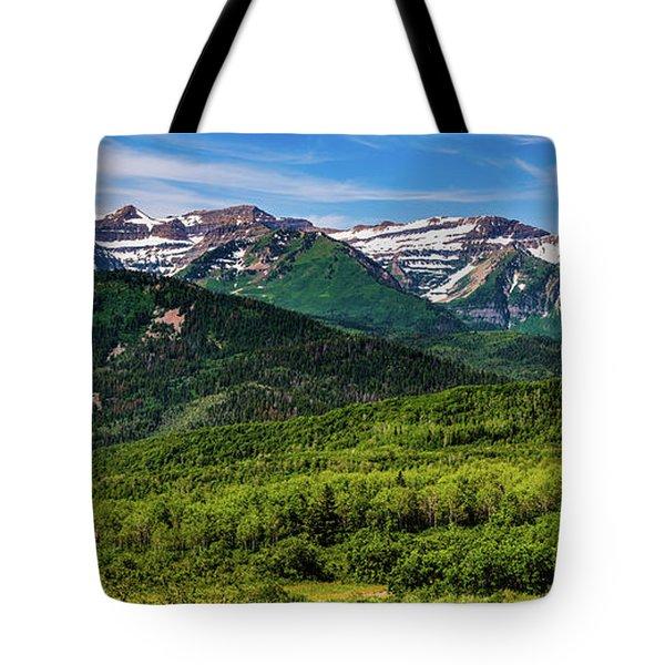 Mount Timpanogos Panorama - Wasatch Mountains - Utah Tote Bag