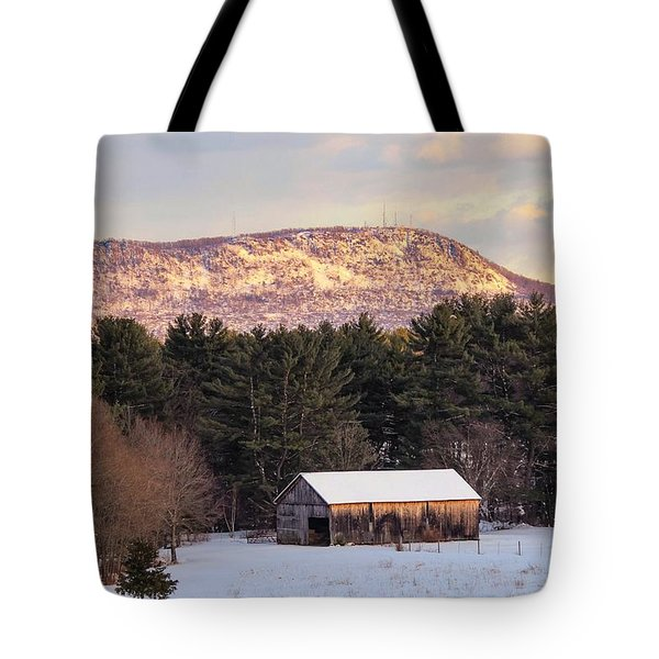 Mount Tom View From Southampton Tote Bag