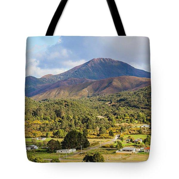Mount Zeehan Valley Town. West Tasmania Australia Tote Bag