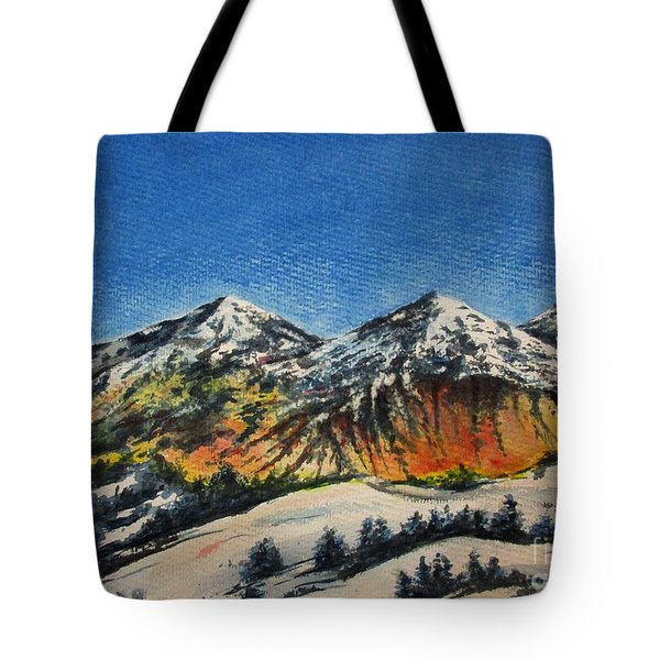 Mountain-5 Tote Bag