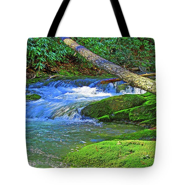 Mountain Appalachian Stream Tote Bag
