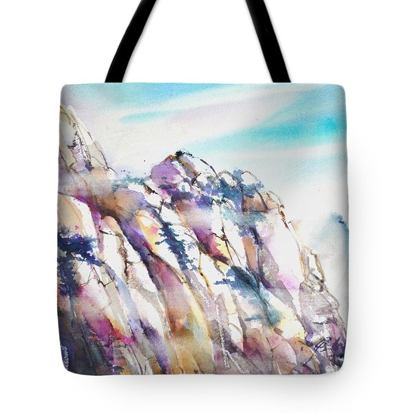 Mountain Awe #1 Tote Bag by Betty M M Wong