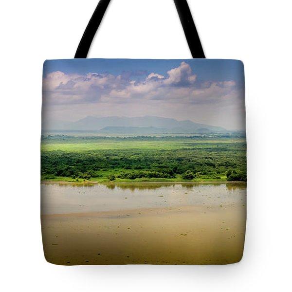 Mountain Beyond The River Tote Bag