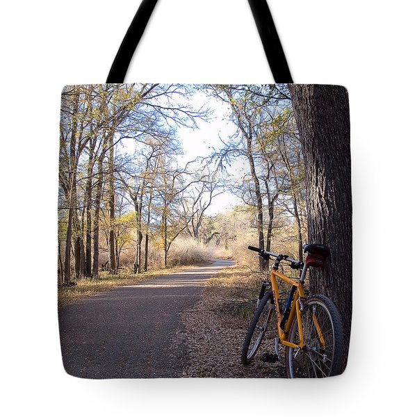 Mountain Bike Trail Tote Bag
