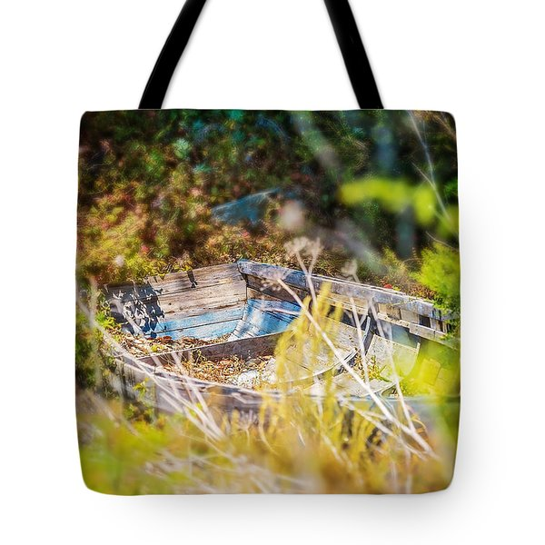 Mountain Boat Tote Bag