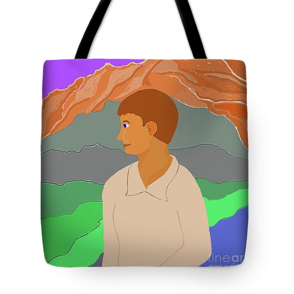 Mountain Boy Tote Bag by Fred Jinkins