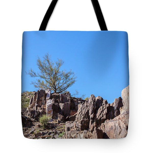 Mountain Bush Tote Bag by Ed Cilley
