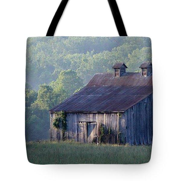 Mountain Cabin Tote Bag