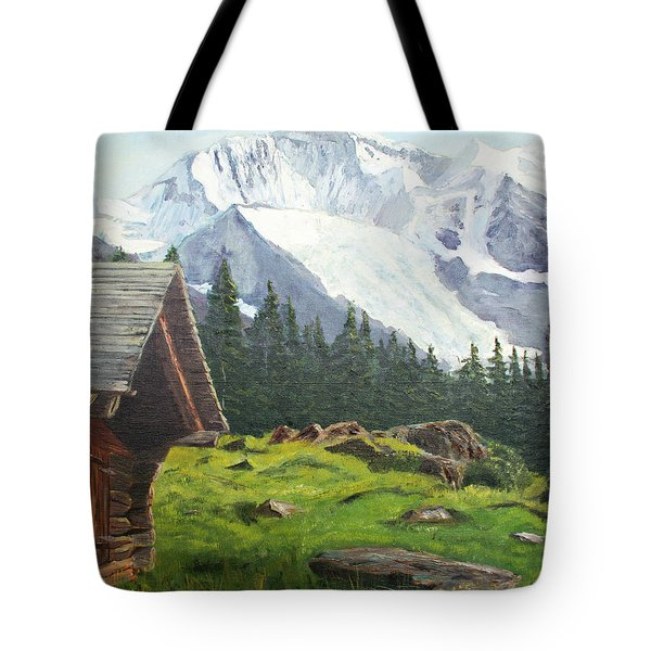 Mountain Cabin Tote Bag